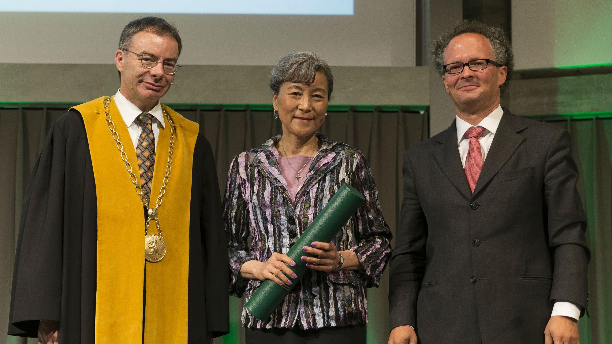 Thomas Bieger, Anne Tsui und Peter Leibfried at Dies