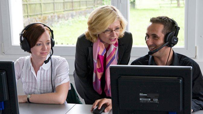 Arbeiten im Sprachenzentrum