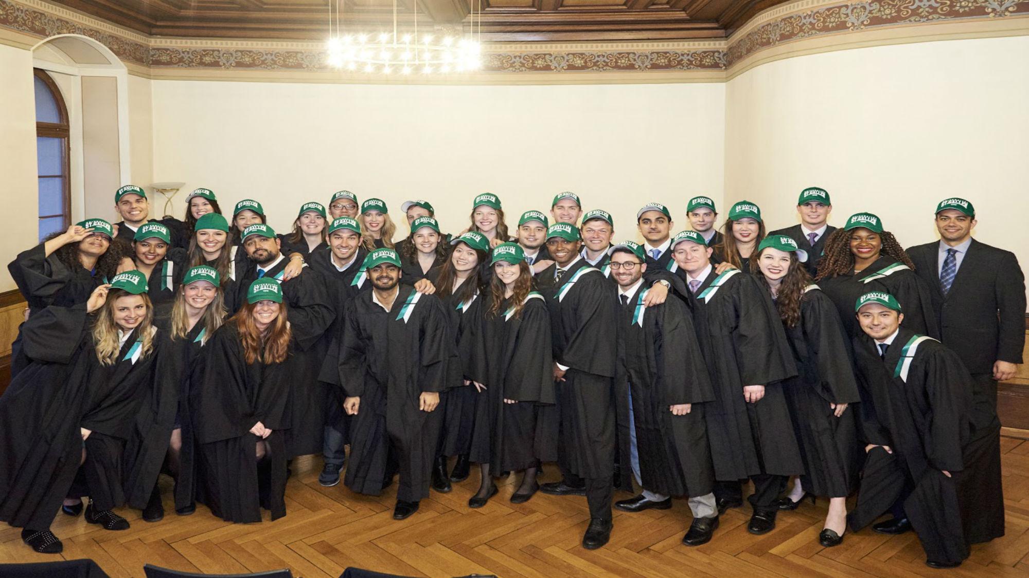 ISP Graduation Green Hats